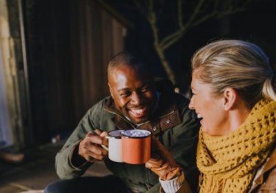 Couple with hot coco