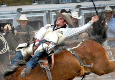 cowboy during a rodeo